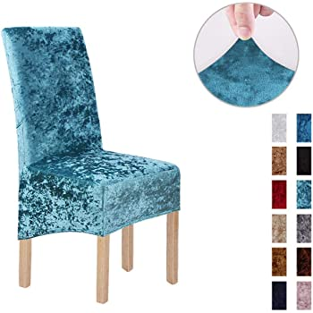 AOM Crushed Velvet Fabric Stretchable XL Chair Covers for