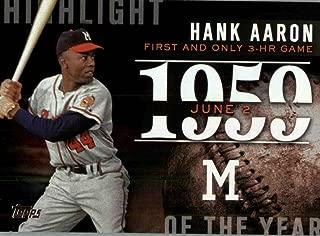 hank aaron baseball card price