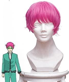 Telacos Saiki Kusuo No Sai-nan Saiki Kusuo Cosplay Wig Cosplay Costume Red Hair