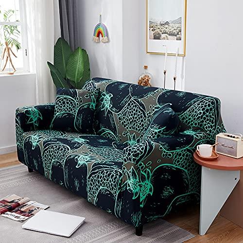 ASCV Funda de sofá de Spandex con Estampado de Bohemia Todo Incluido Funda de sofá elástica Boho Funda de sofá de Dos plazas Protector de sillón Anti-Polvo A8 4 plazas
