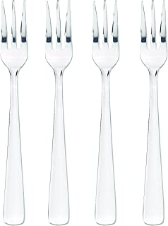 HIC Oyster Seafood Cocktail Appetizer Fork Set, Stainless Steel, 5.5-Inches, 4-Piece Set