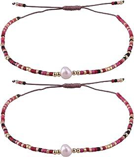 KELITCH 2020 Nuevo Miyuki Mixto brazaletes estandar Hilo Hecho a Mano Boho Amistad Pulsera para Las Mujeres