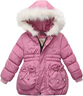 Children Girls Winter Coats Zip Thick Jacket Warm Snow Hoodie Outwear Indoor Outdoor Clothes