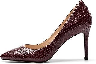EDEFS Scarpe con Tacco Donna,Donna Scarpe col Tacco Punta Chiusa, 80mm High Heel Scarpe