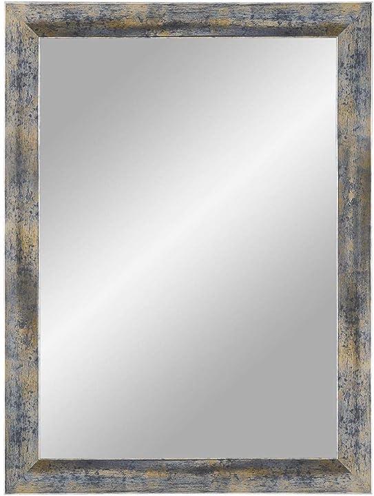 Cornice a specchio blu argento oro 90 x 145 cm specchio da parete con cornice in mdf bymoris mir MIR0900x1450BLA032