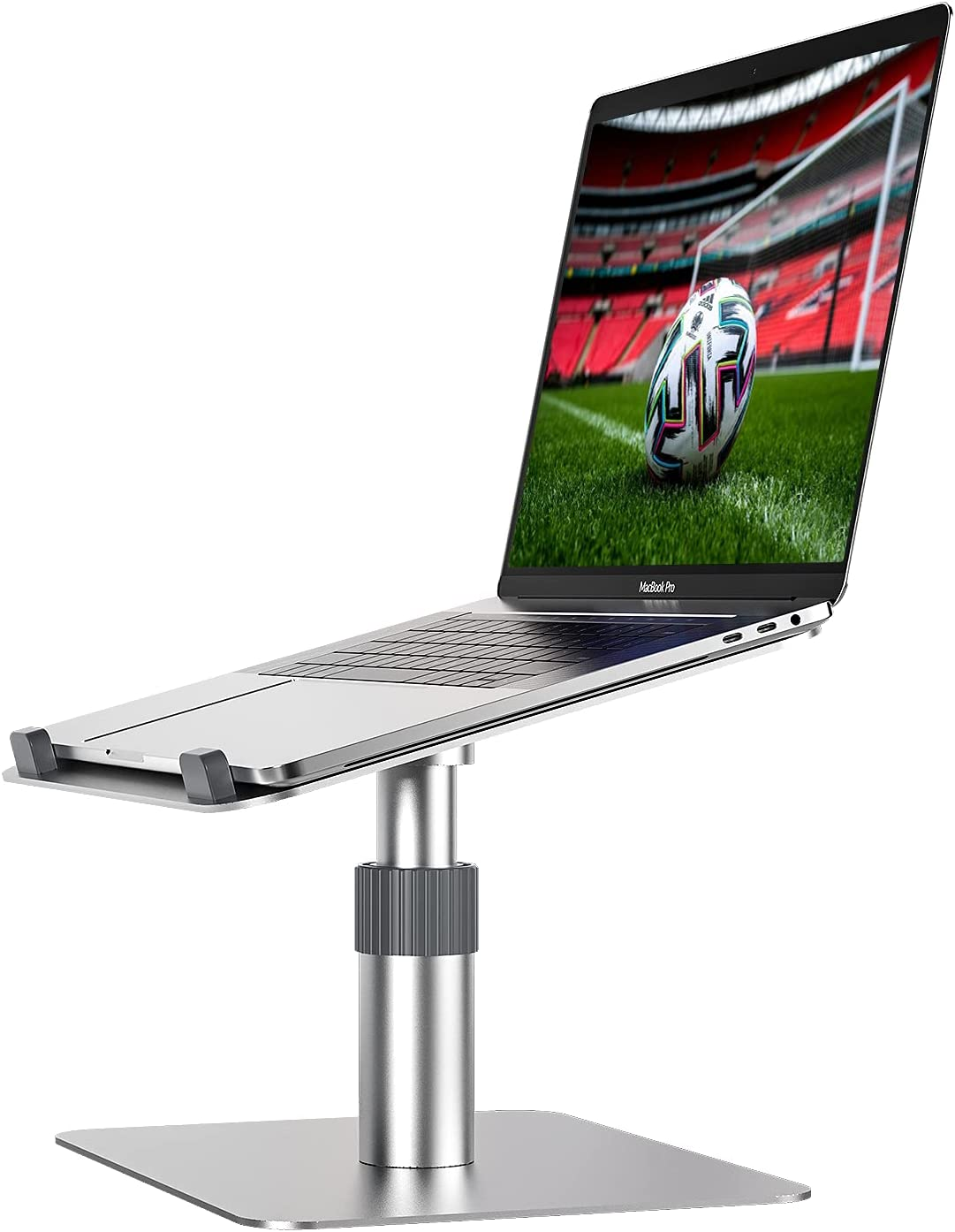 Newaner Laptop Computer Stand - Monitor Riser with Vented Metal and Desk Storage - 12.2x7.88x3.15 Inch Home Office Desk for Computer, Laptop, Printer, Monitor