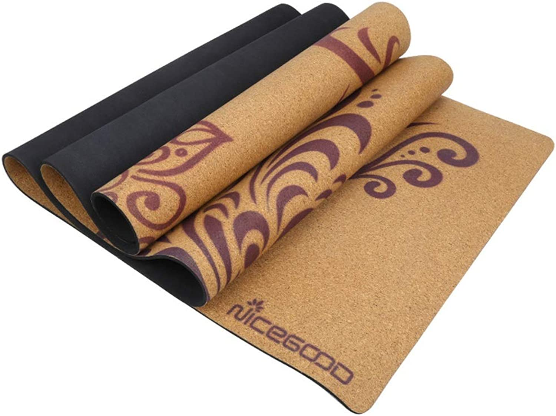 Pro-BikeUS Yoga Mat Cork 3mm Environmental Friendly Tasty Gym Mat Yoga Mat for Gym Family.