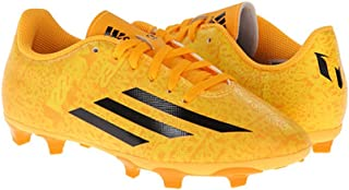 adidas New Boy's F5 Fg Messi Soccer Cleats Solar Gold/Black 10.5