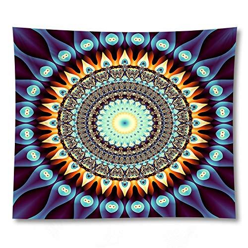 KHKJ Mandala Indio Tapiz Colgante de Pared Alfombra de Playa Bohemia Manta de poliéster YogaHome Dormitorio Alfombra artística A3 230 * 180 cm