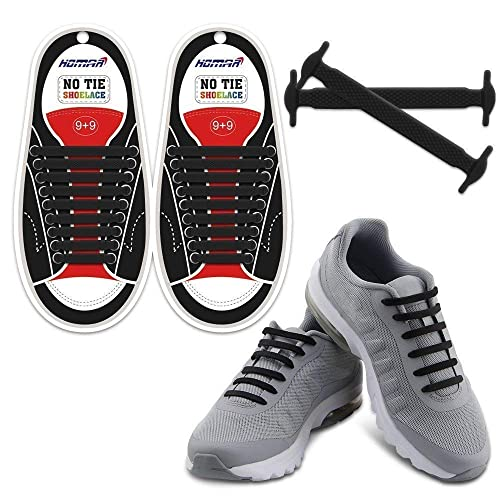 0c362d70d7e7 HOMAR No Tie Shoelaces for Kids and Adults - Best in Sports Fan Shoelaces -  Waterproof