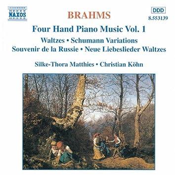 BRAHMS: Four-Hand Piano Music, Vol.  1