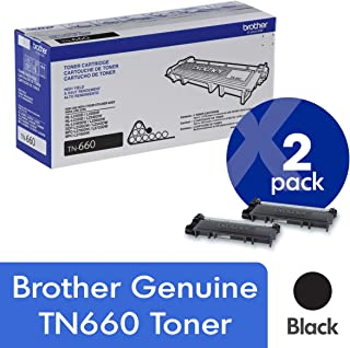 Brother Genuine TN660 High Yield Mono Laser Toner Cartridge 2-Pack
