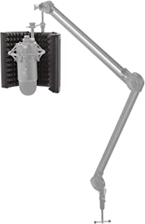 Knox Adjustable Microphone Isolation Shield – High Density Sound Absorbing Foam for Noise Reduction and Reflection - Mounts on Standing or Desktop Mic Stand - Premium Recording Studio Equipment