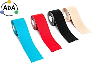 """ADA Rocketape Support Kinesiology Tape for Athletes - Multicolor (5cm x5cm/2"""" x16.4)"""