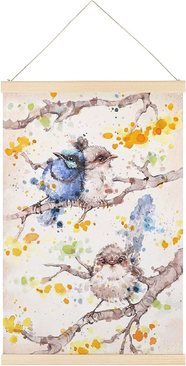 Poster Max 80% OFF Hanger Little Bird Family Canvas Art New popularity and Wall