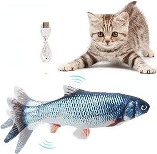 Flysee Eléctrica Juguete Pez para Gato,Peluche de Juguete