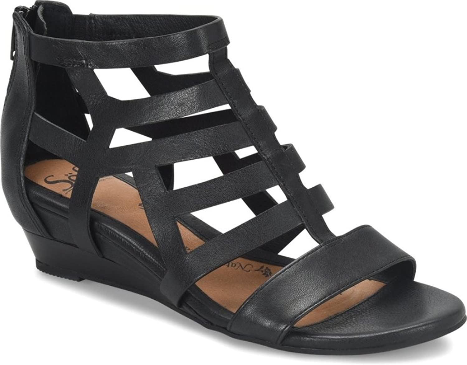 Sofft Womens Ravello Open Toe Casual Strappy Sandals, Black, Size 8.5
