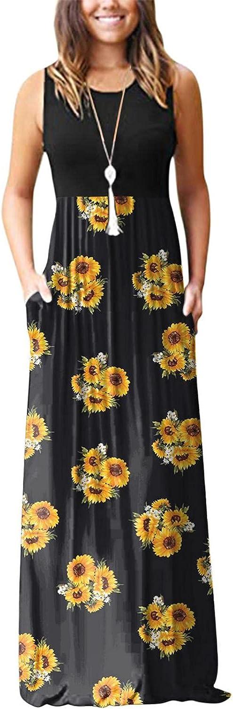 Tavorpt Summer Dresses for Women Sleeveless Casual Maxi Dress Star Patchwork Party Beach Cami Long Dress Sexy Sundress