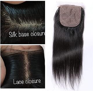 Derun Hair Silk Base Closure Brazilian Hair 4X4