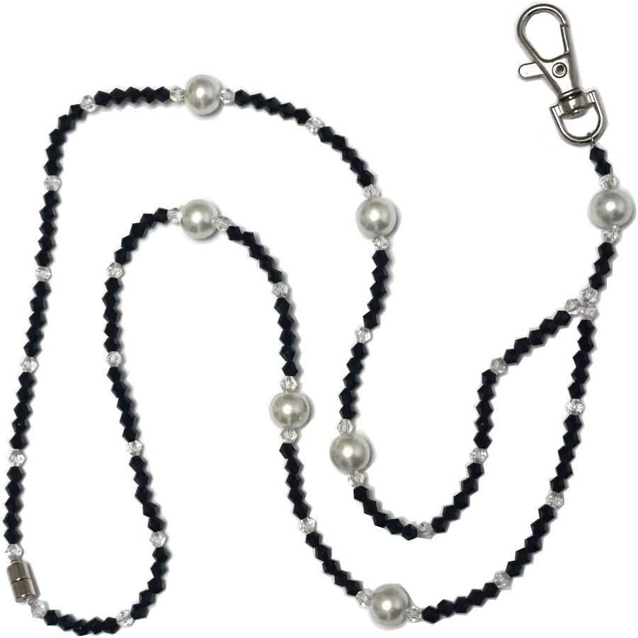 Safety Magnetic Clasp Beaded SOS Lanyard,Lanyard For SOS Pendant,Short Lanyard