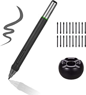 デジタルペン,Benkeg デジタルペン8192レベル圧力電池不要のスタイラスペン、20個のペンニップ付きペンホルダー、 BT-16HDT / BT-16HDK / BT-16HD / BT-22U MINI/BT-22UXグラフィックモニター...