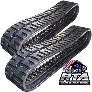Two Rubber Tracks for Bobcat T250 T300 T320 T740 T750 T770 450X86X55 C-Lug Tread Pattern