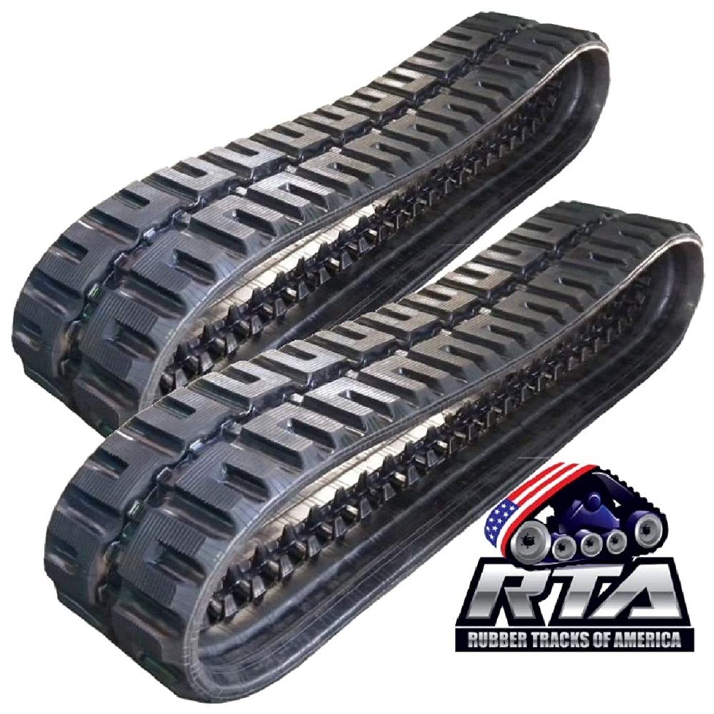 Two Rubber Tracks for CASE 450CT TR320 TV380 450X86X55 C-Lug Tread Pattern