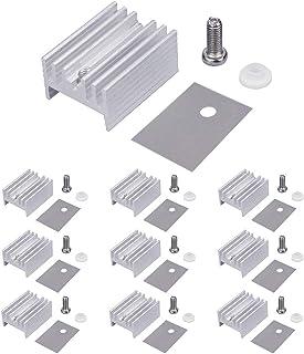 WayinTop 10 Packs TO-220 Aluminum Heatsink & Insulator/Mounting Kits for TO-220 MOSFET Transistor, TO-220 Heatsink + M3 Sc...