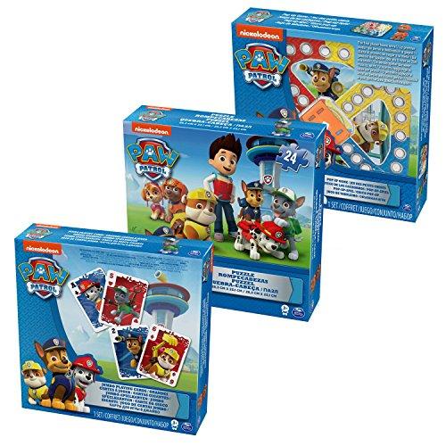 PAW PATROL, Set da 3Pezzi: Puzzle, Gioco Popper e Carte Jumbo