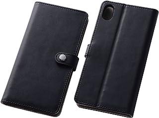 レイ・アウト Xperia Z4 ケース ( SO-03G / SOV31 ) 手帳型 シンプル レザーケース (ICカード収納ポケット×1 / スタンド機能付) ブラック RT-XZ4LBC6/B