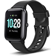 """Letsfit Smart Watch, Fitness Tracker with Heart Rate Monitor, Activity Tracker with 1.3"""" Touch..."""