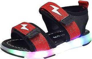 comprar comparacion riou Unisex Niños Sandalias Verano relámpago LED luz Deportes Playa Zapatos Sandalias Ligero y cómodo Linda de Dibujos Ani...