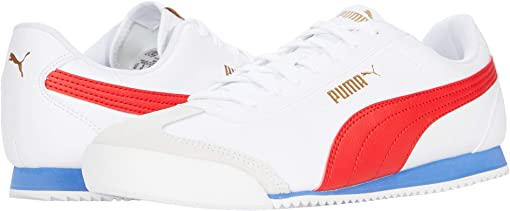 Puma White/High Risk Red/Puma Team Gold