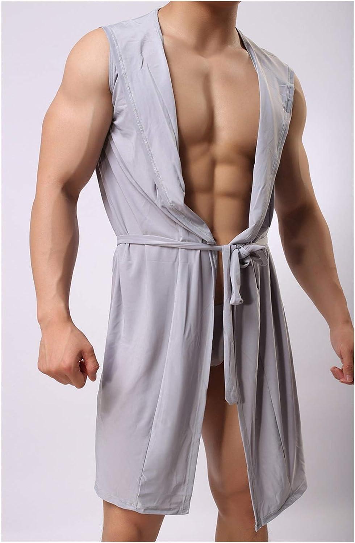 Sleep Tops Men's Clothing Apparel Fashion Men Dallas Mall Kimono Bathrobe Silk Ice i