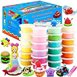 CiaraQ 36 Colors Air Dry Clay Kit, Modeling Magic Clay, Ultra Light Plasticine Clay for Ki...