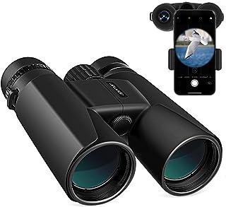 APEMAN 10X42 Jumelles Compactes, Jumelles Puissante avec Adaptateur pour Smartphone,..