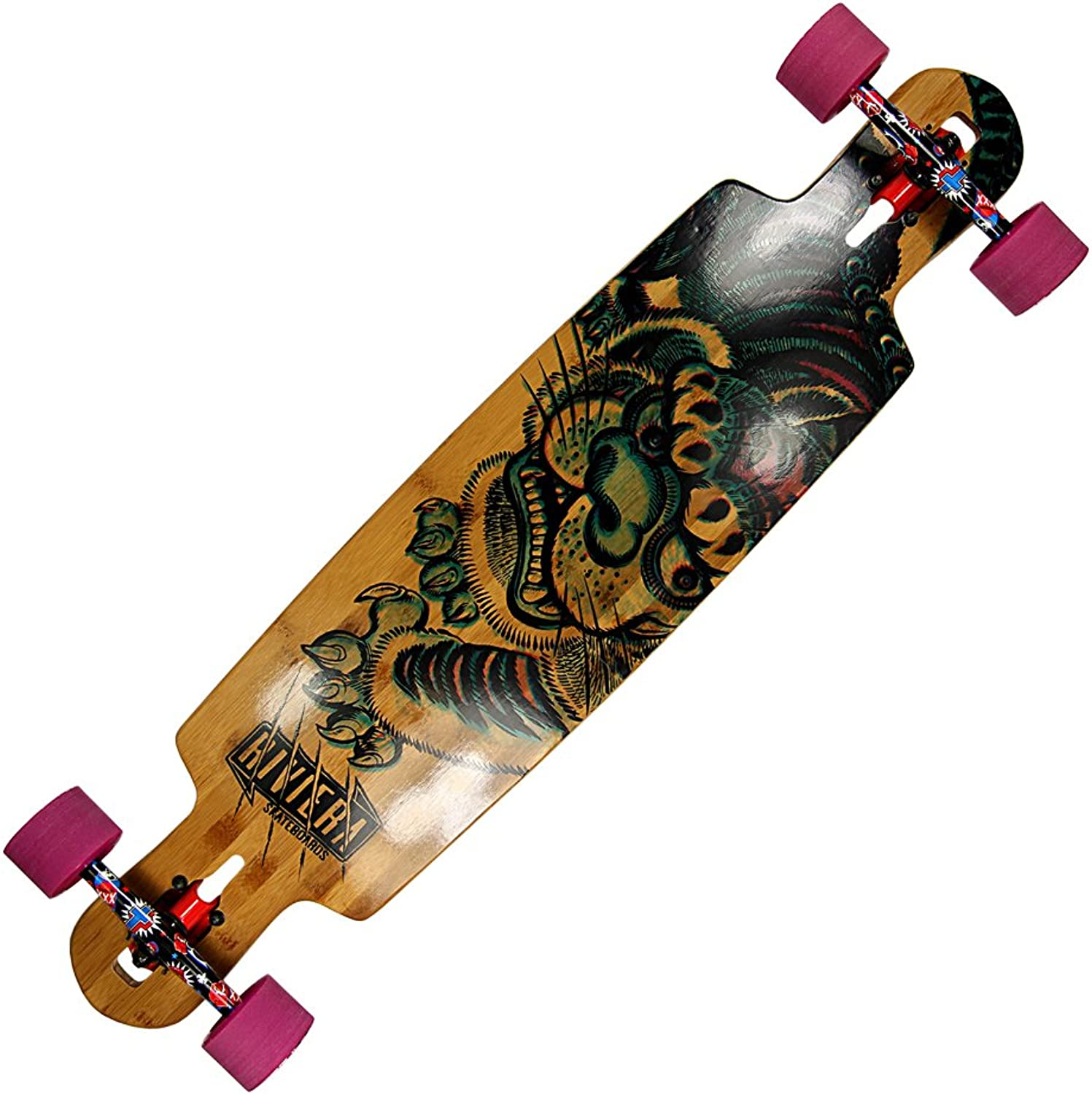 Riviera Skateboards Skateboards Skateboards Kung-Fu-Kitty Longboard Drop-Through B00ULI0ZBU  Niedriger Preis 25d814