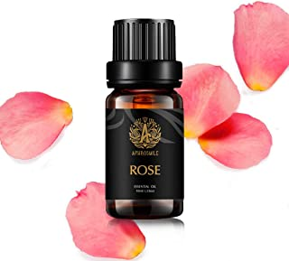 Aphrosmile Rose Essential Oil - 100% Pure Rose Oil, Organic Therapeutic-Grade Aromatherapy Essential Oil 10mL/0.33oz