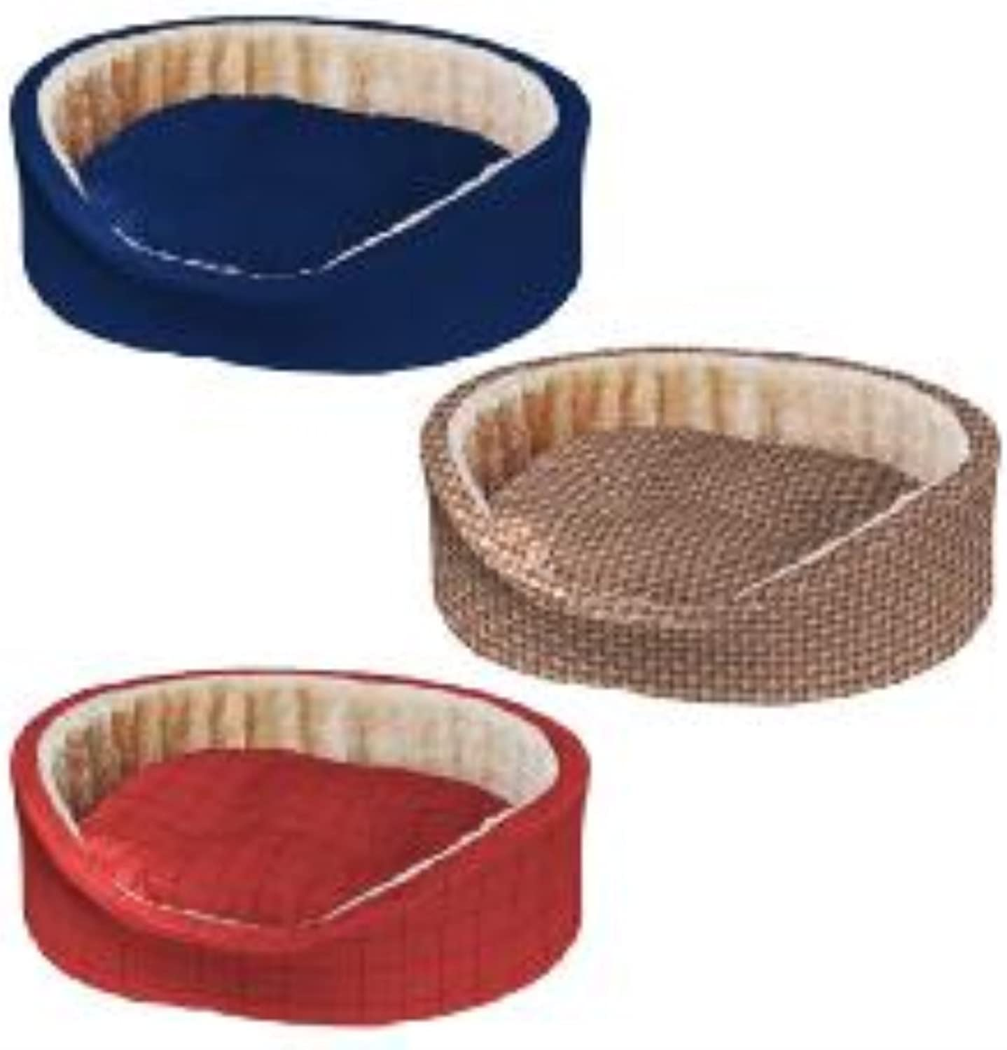 Ferplast Pet Products Dandy Cotton and Fur Tarten Bed Mixed Colours 95x60x23cm