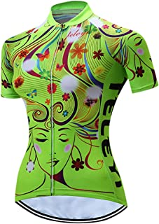 Women's Cycling Jersey Pro Bike Team Full Zipper Summer Short Sleeve MTB Shirt Tops Quick Dry Bicycle Clothing Jerseys