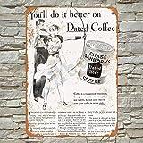 Kilburn 1933 Chase & Sanborn's - Decoración de Pared para Pared, diseño Retro con Texto en inglés Chase & Sanborn's Dated Coffee