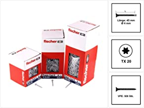 Tornillo rosca aglomerado FPF-SZ 3,5x40 rosca parcial YZP 1000 FISCHER 653108 Envase de 1000 ud.