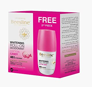 Beesline Whitening Roll-On Deodorant - (1+1Free) (Cotton Candy)