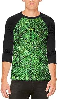 Halloween Green Snake Snakeskin Costume Mens Raglan T Shirt