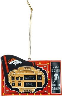 Team Sports America NFL Denver Broncos Scoreboard Polystone Ornament, Small, Multicolored