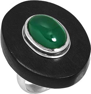 自然 グリーン オニキス ジェムス トーン ユニークです ジュエリー 固体 925 スターリング シルバー リング 16