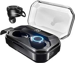 Andoer Fones de ouvido potáveis com visor de bateria Fone de ouvido BT Fone de ouvido sem fio Fone de ouvido esportivo c...
