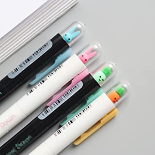 Cute Kawaii Rabbit and radish Press Shape Gel Ink Pens school office supplies for girls Stationery novelty pens for kids stationary (4)
