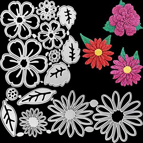 2 Sets de Troqueles de Corte de Metal de Flores Plantilla de...