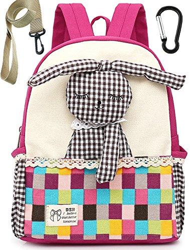 Tissu Sac A Dos Enfant Fille Lapin Rose Bambin Cartable Maternelle Garderie PréScolaire(1-3ans)